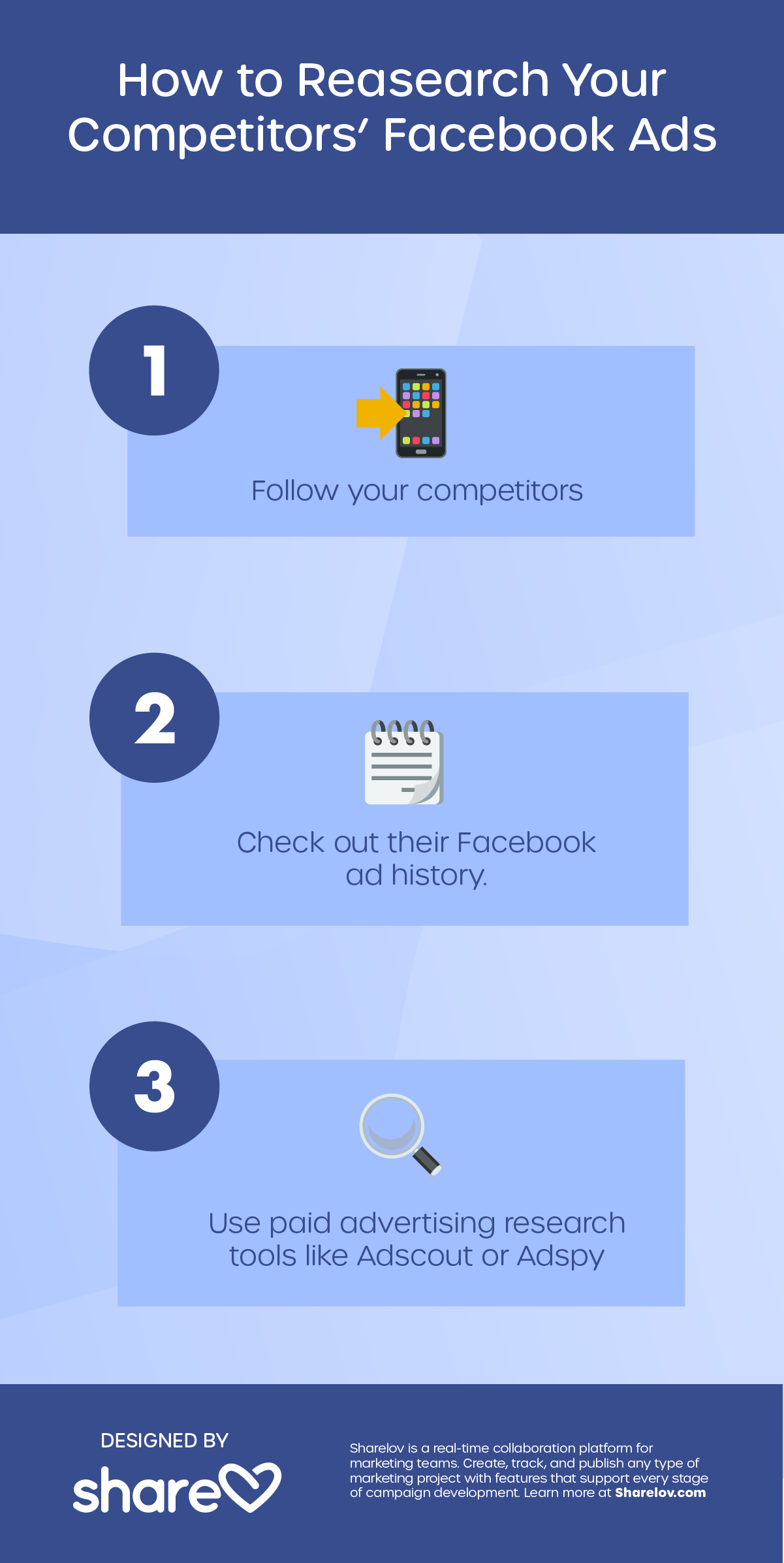 How to Research Your Competitors' Facebook Ads infographic