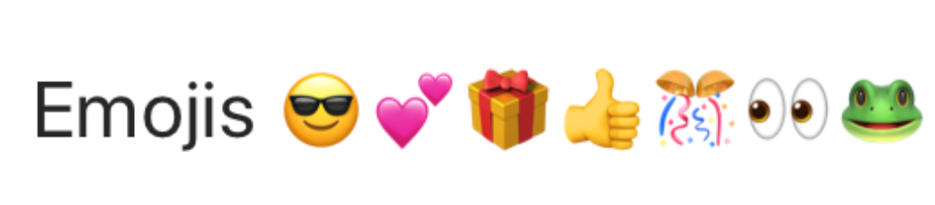 Emojis Examples