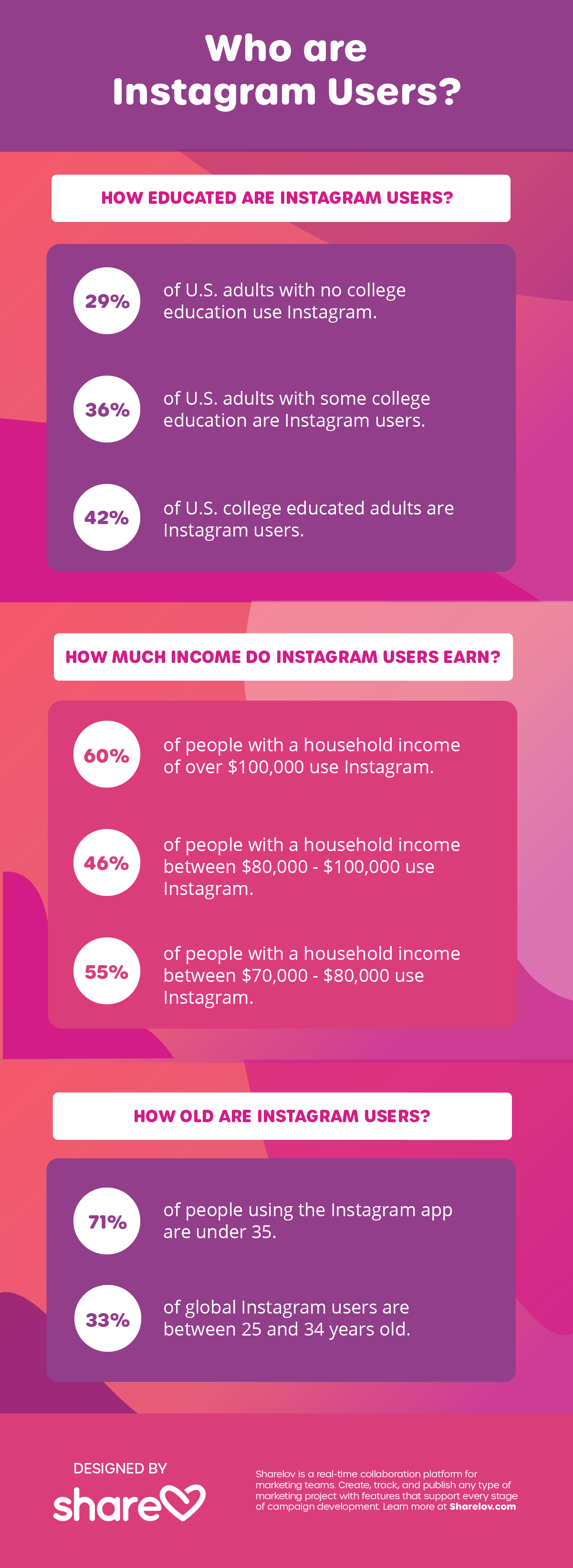 Who are Instagram Users infographic