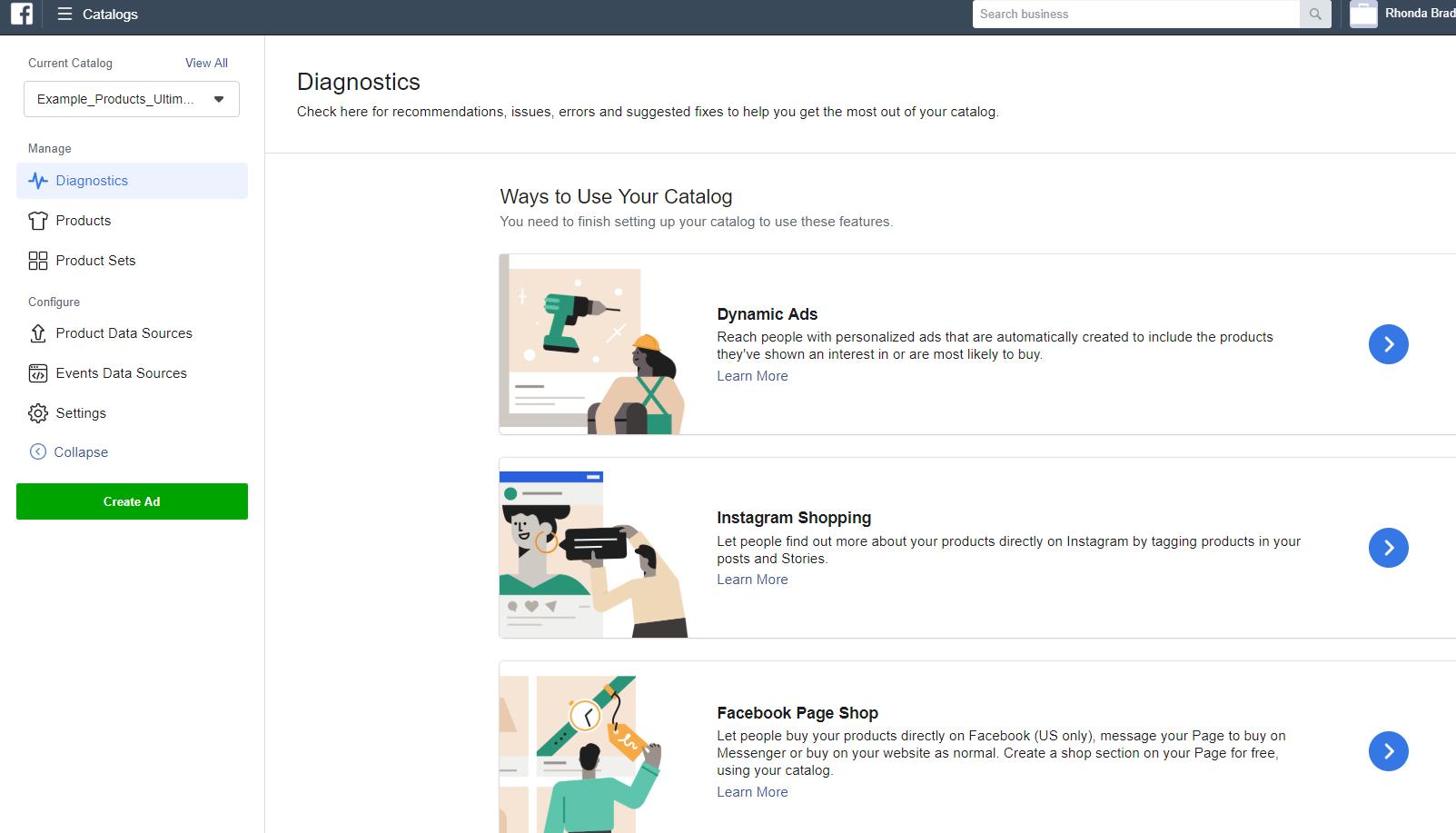 Facebook Catalog setup step four