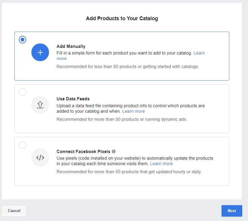 Facebook Catalog setup step five b