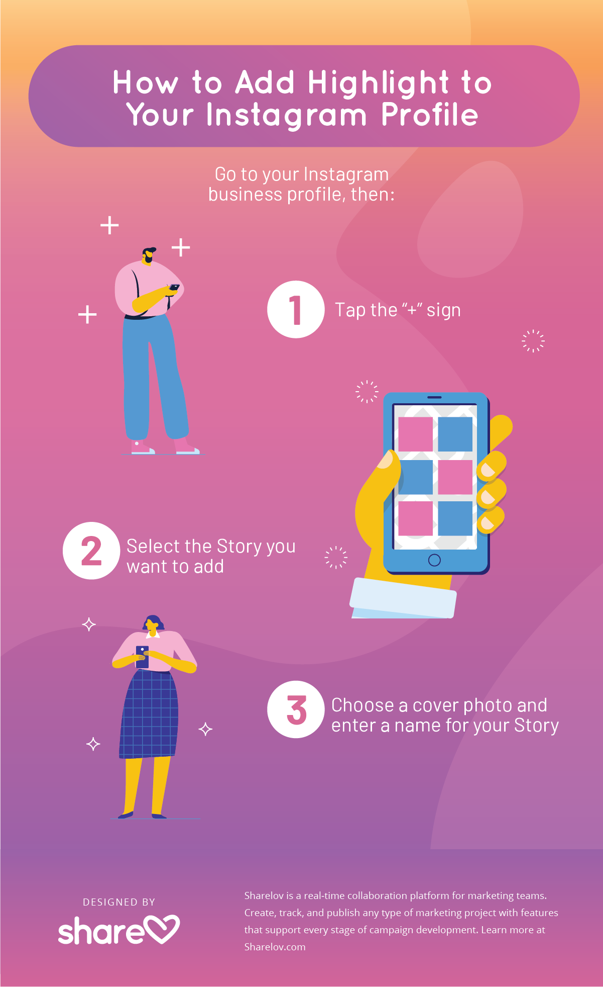 Here's How to Add Instagram Stories Highlight to Your Profile infographic