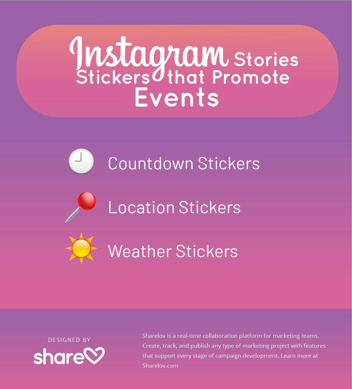 Instagram Stories Stickers that Promote Events