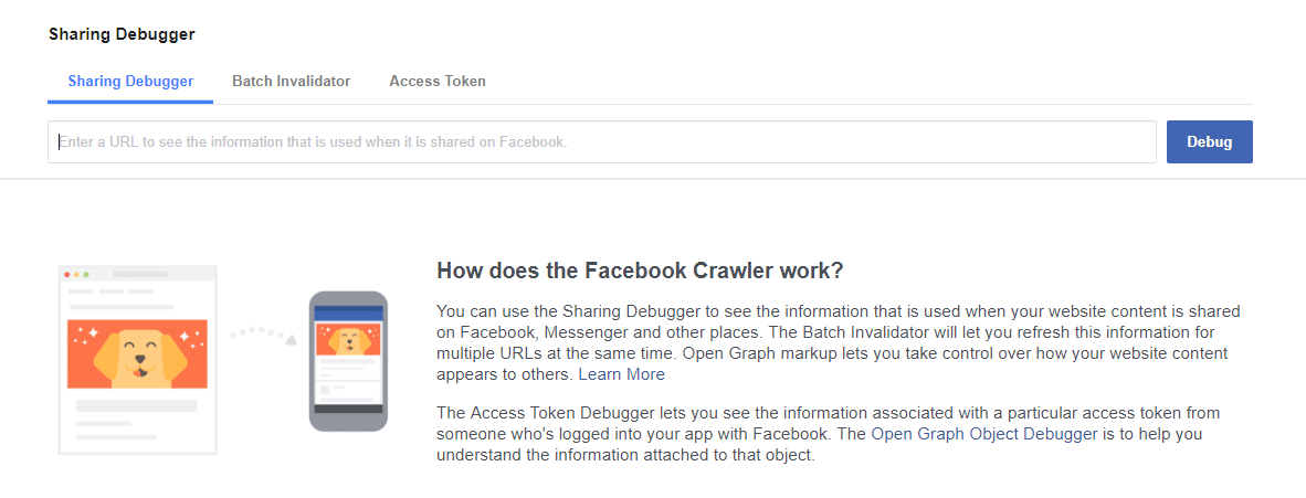 Facebook Debugger example welcome