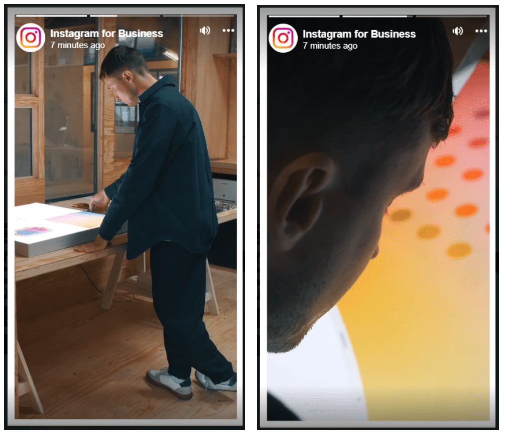 instagram business story