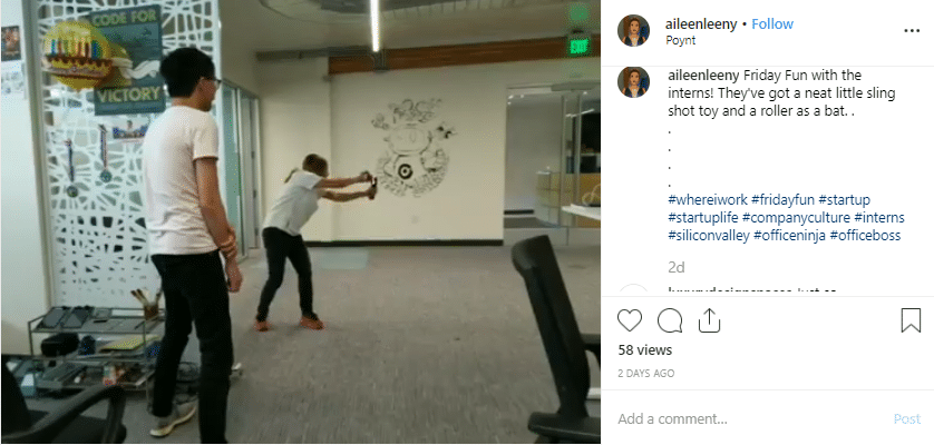 Instagram company culture video aileenleeny