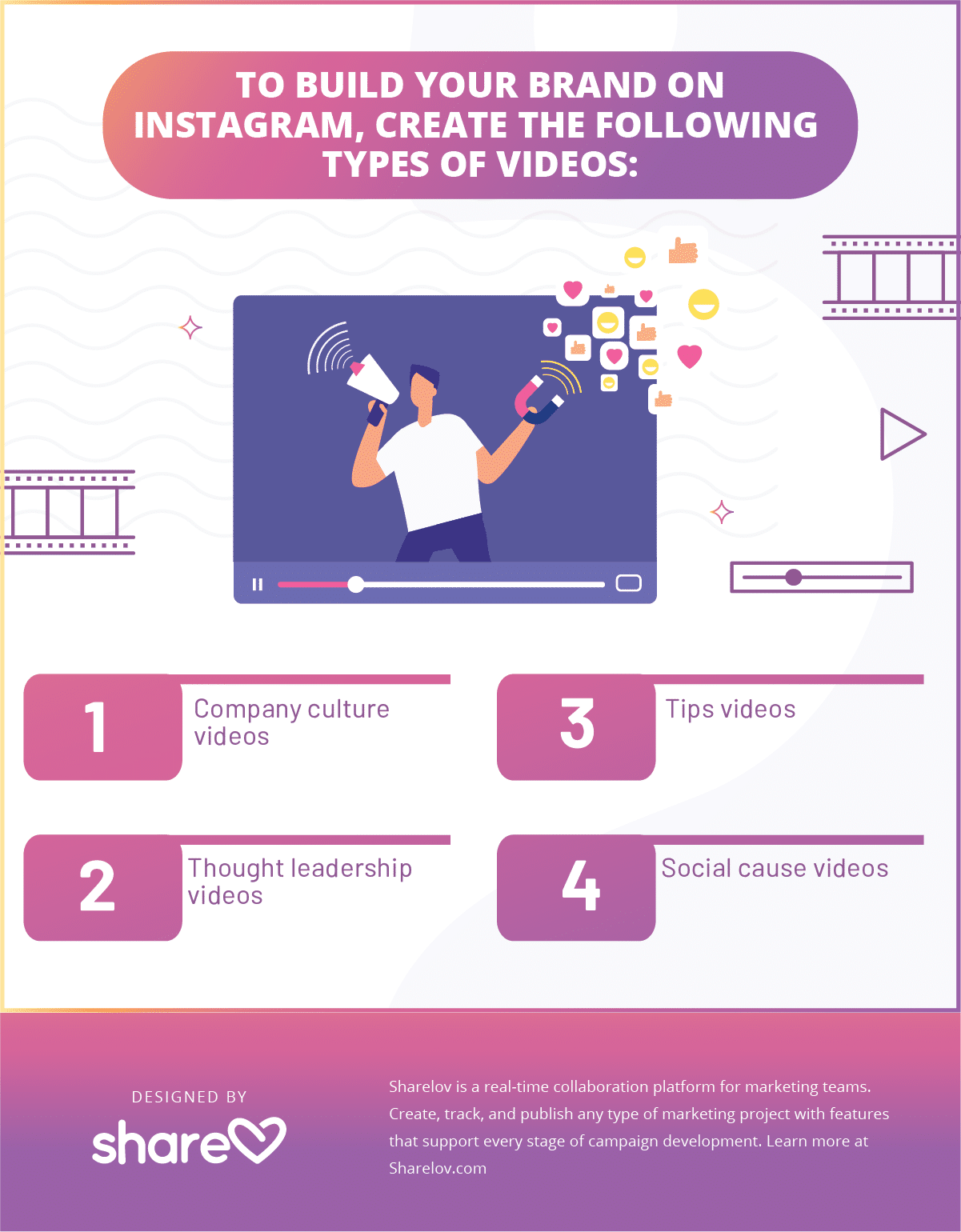 Instagram videos to build brand