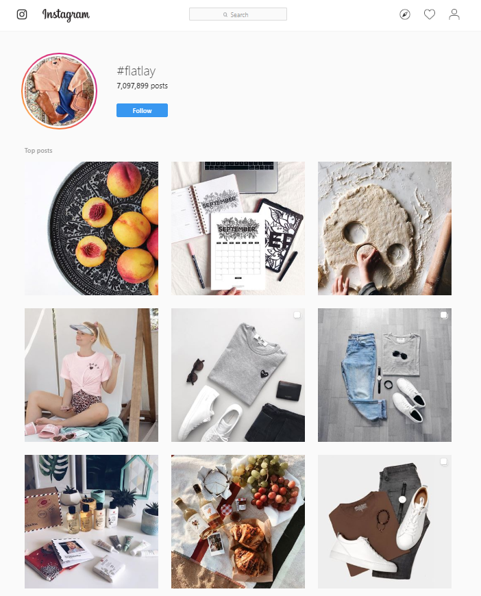 browse flat lay