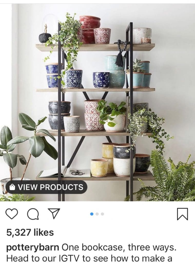 Instagram Shopping tag example
