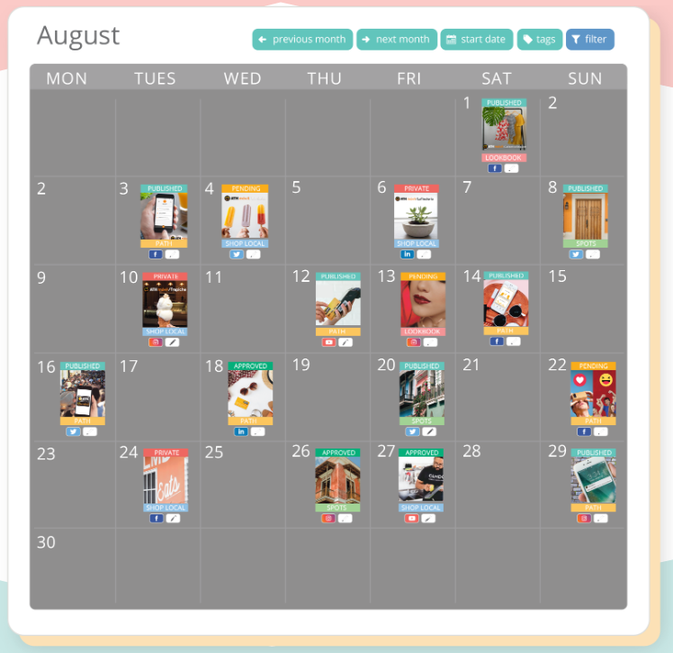 visual content calendar for holiday campaigns