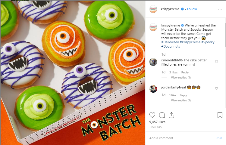 Krispy Kreme holiday Instagram