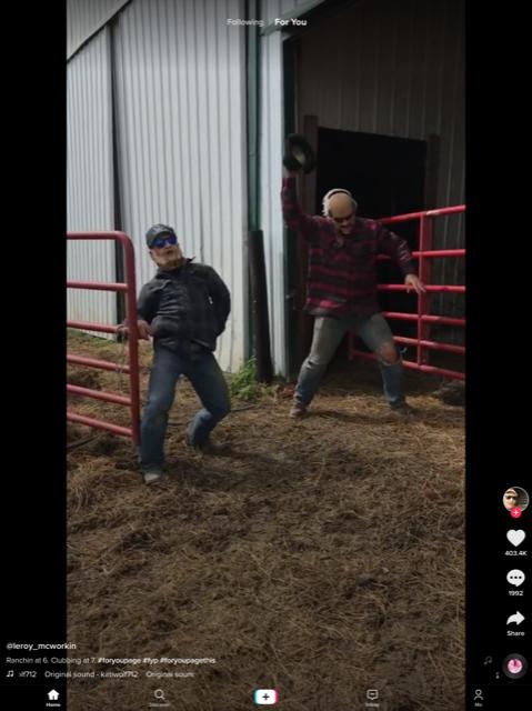 Dancing farmers on TikTok