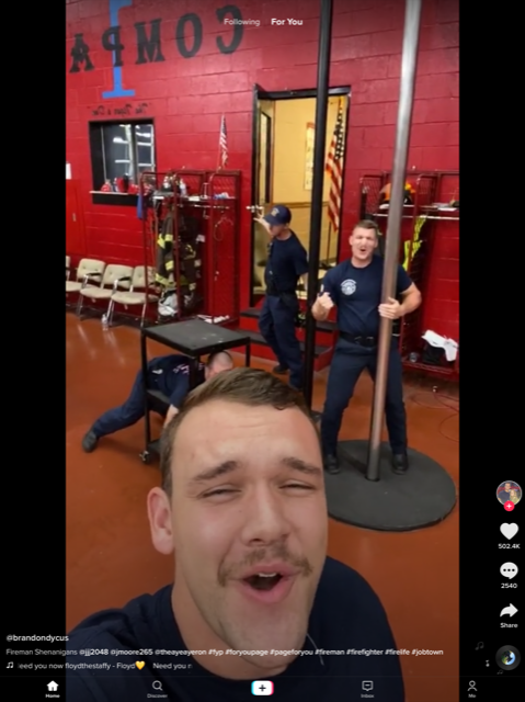 Singing firefighters