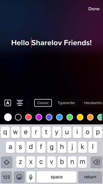 TikTok add text to video