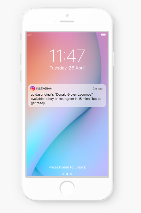 Product launch notification IG Stories