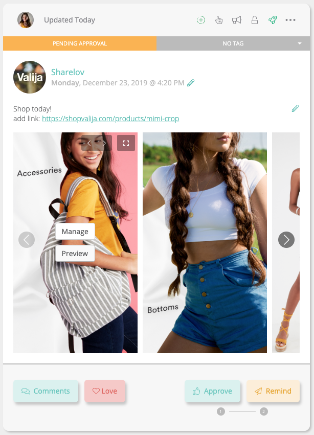 sharelov instagram stories preview manager