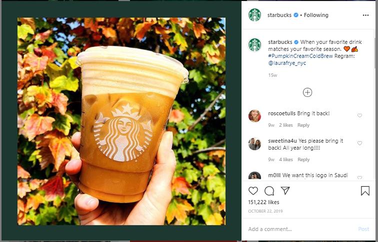 Starbucks Instagram Regram: @laurafrye_n