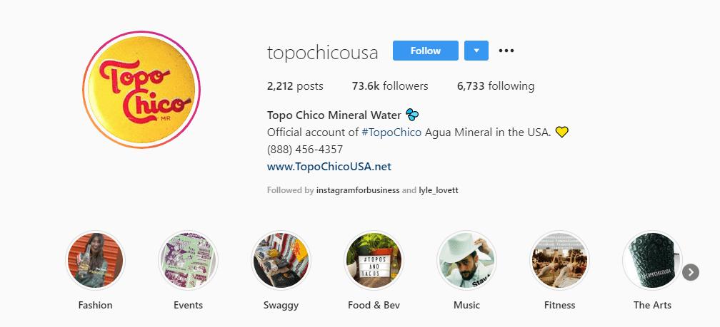 topo chico instagram bio example