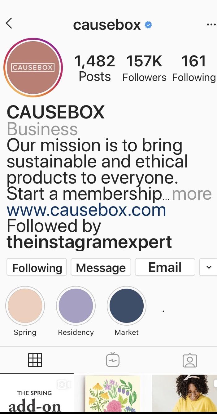 causebox_instagram_bio_profile