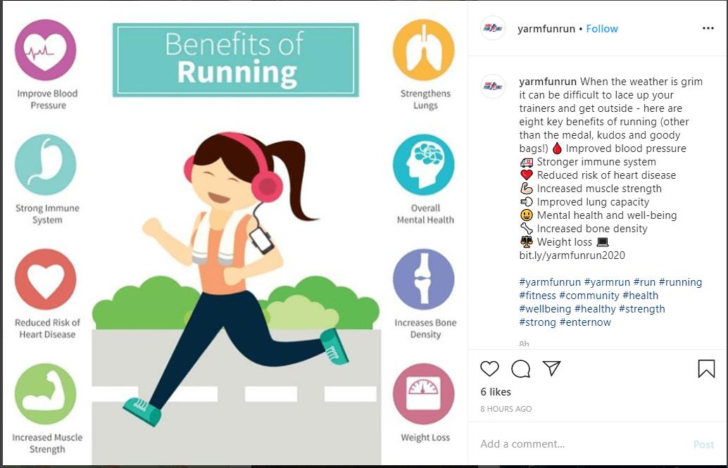 link in post Instagram example