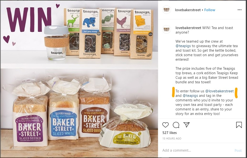 Contests with mentions Instagram example_LI