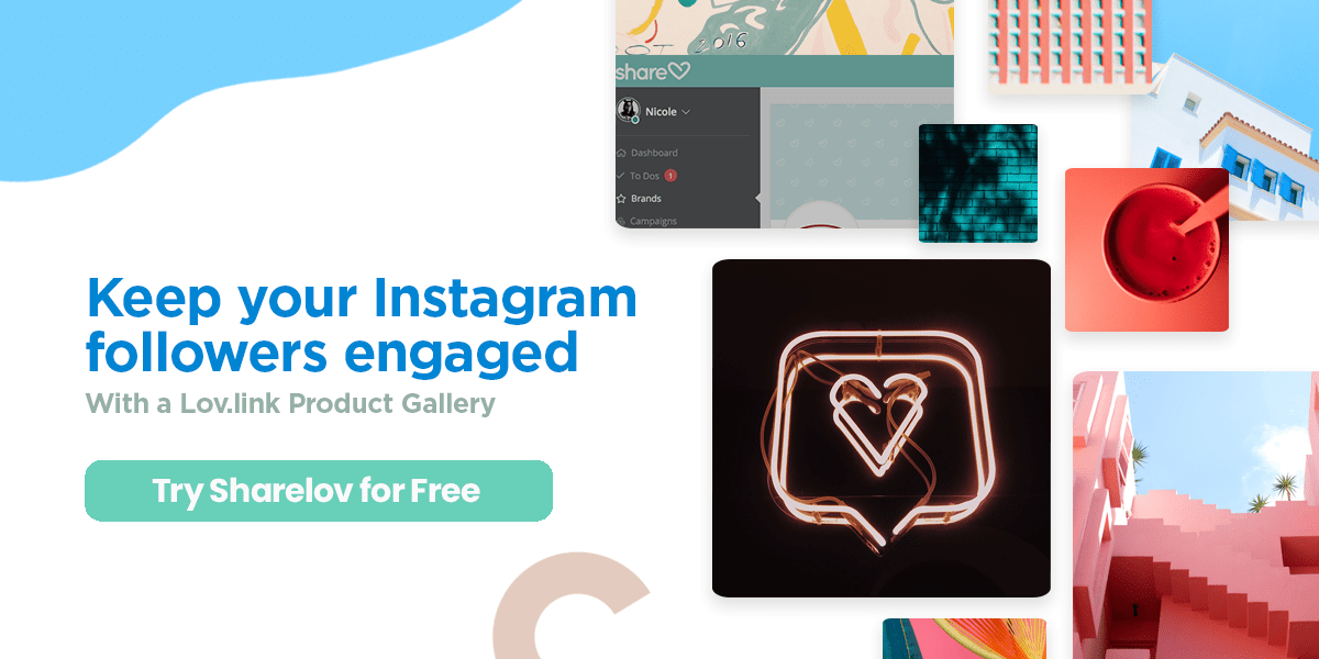Keep your Instagram followers engaged with a Lov.link product gallery