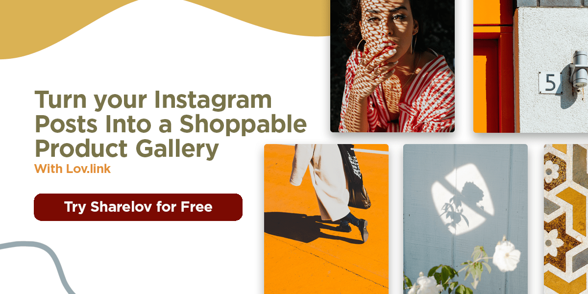 Turn your Instagram posts into a shoppable product gallery with Lov.link