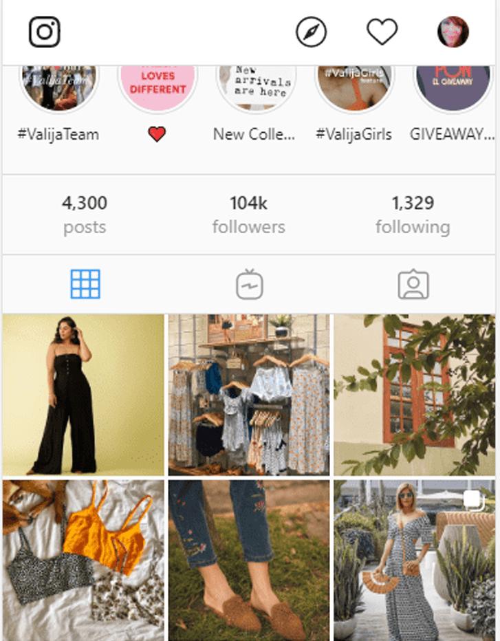 valija profile feed