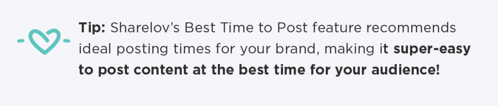 Tip: Sharelov's Best Time to Post feature