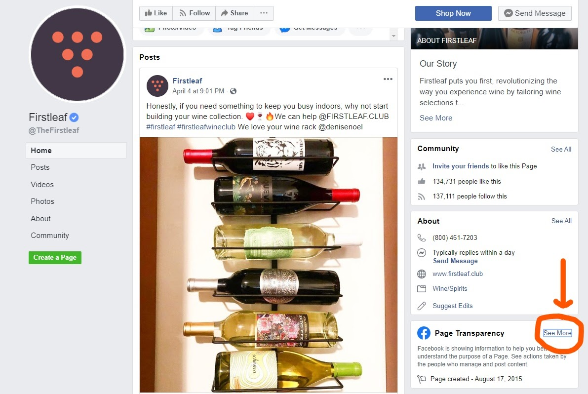 competitor research Facebook transparency