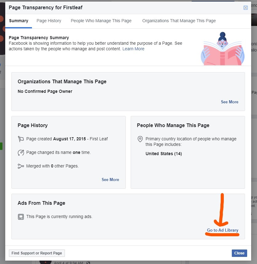 competitor research on Facebook ad library