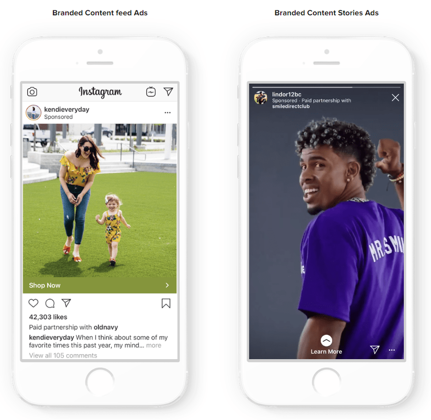 IG branded content ads examples