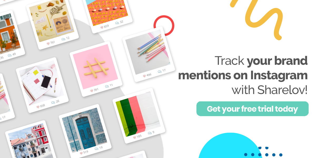 Track your brand mentions on Instagram with Sharelov