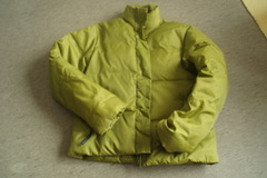 Myydään: Womens feather - filled padded coat short style size M