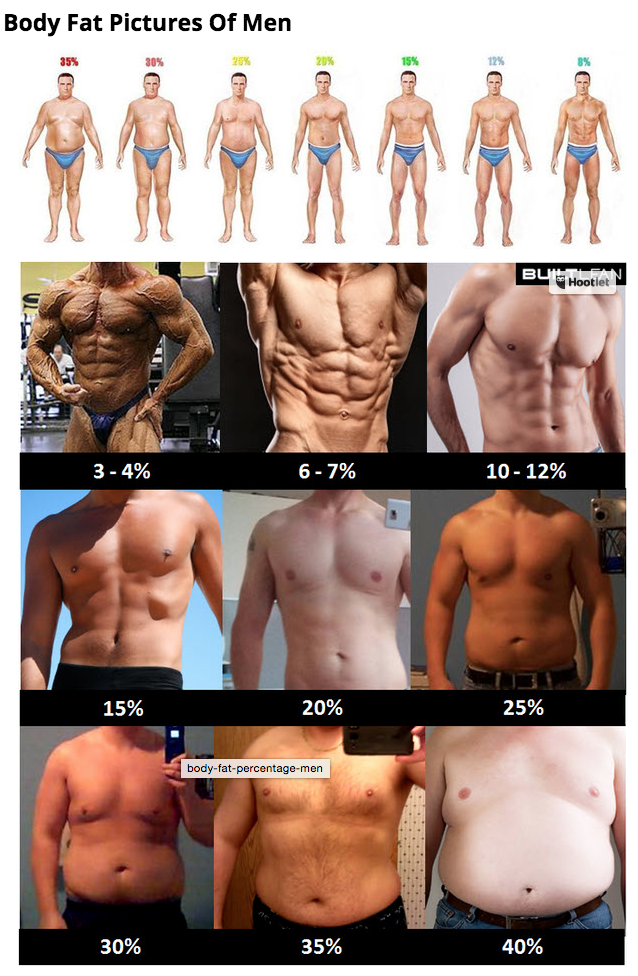 body fat pictures of men