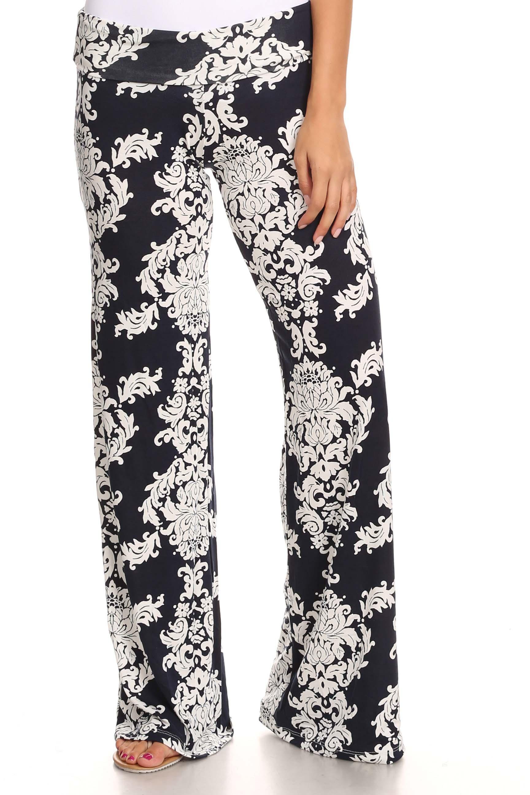 Creative Lofbaz Womenu0026#39;s Pattern Printed Wide Leg Harem Palazzo Pants Trousers | EBay
