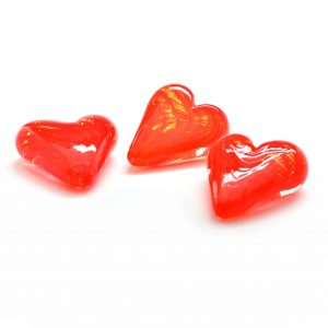valentines day gift, handmade glass heart, love gift, heart paperweight, handmade glass paperweight
