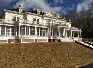 moses cone manor white mansion in blowing rock nc craft gallery inside, southern highland craft guild