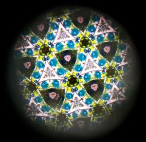 view inside a kaleidoscope