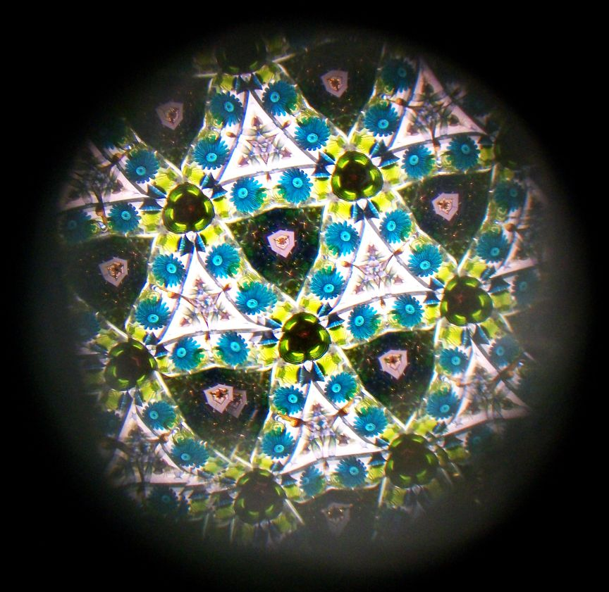 view inside a kaleidoscope