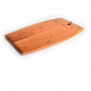 shaped serving platter, rounded edges, hole for hanging, beautiful wooden serving tray, cutting board, cheese tray server,