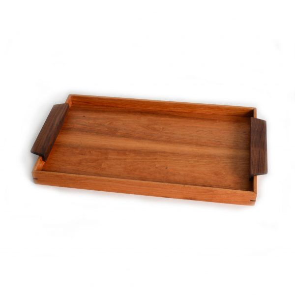 large wooden serving tray, handmade wood craft, breakfast in bed tray, large rectangle serving tray
