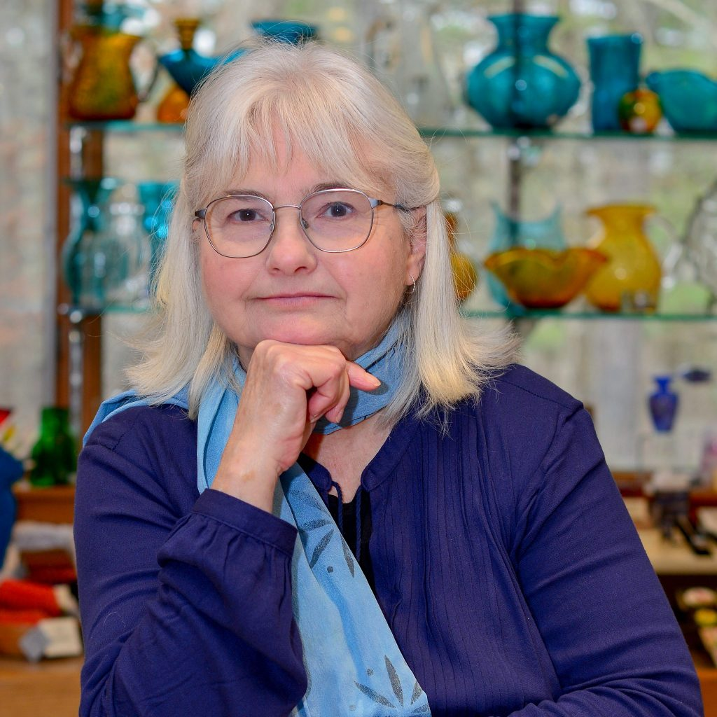 manager of folk art center, blue ridge parkway craft shop