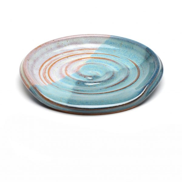 cheap gift, small gift, round pottery spoon rest, handmade