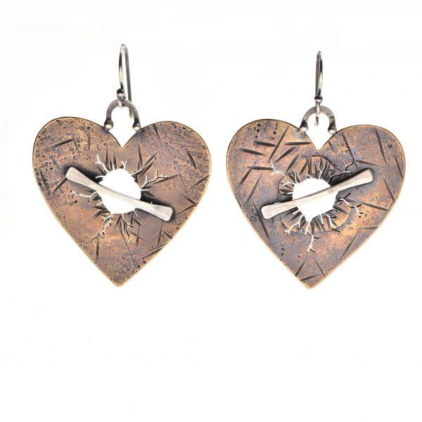 broken heart gift, breakup jewelry, handmade jewelry valentine's day