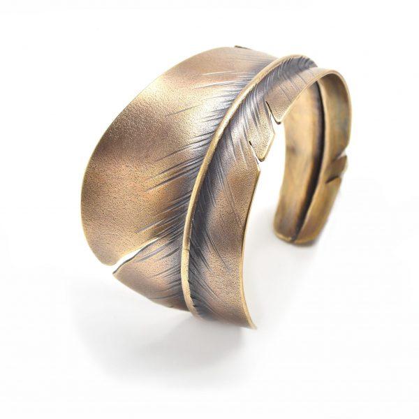 feather cuff bracelet, hippy jewelry, zen jewelry,