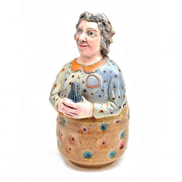 grandmother bank, handmade ceramic bank