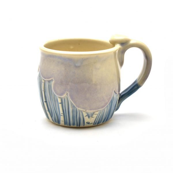 tree low mug, soup mug with winter trees, dr. seuss pots, nc clay
