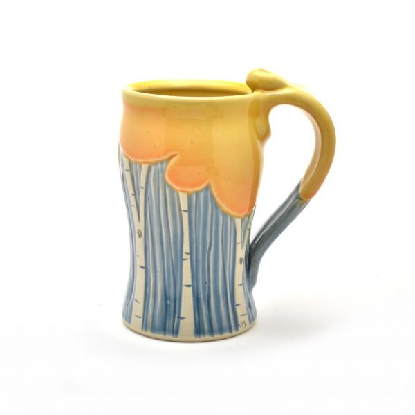 tall fall mug by meghan bernard, handmade wheel thrown