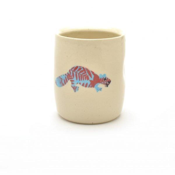 beaver cup, handmade beaver cup, beaver decor